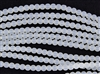 Strand of Sea Glass 4mm Round Beads - Moonstone Opal