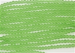 Strand of Sea Glass 4mm Round Beads - Peridot