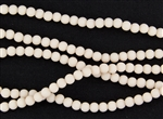 Strand of Sea Glass 4mm Round Beads - Opaque Satin Pale Peach