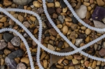 Strand of Sea Glass 4x3mm Rondelle Beads - Moonstone Opal