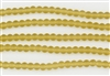 Strand of Sea Glass 6mm Round Beads - Desert Gold