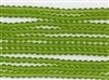 Strand of Sea Glass 6mm Round Beads - Lime Green