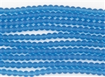 Strand of Sea Glass 6mm Round Beads - Pacific Blue