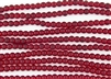 Strand of Sea Glass 6mm Round Beads - Ruby Red