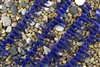 Strand of Sea Glass Tusk / Dagger Beads - Cobalt Blue