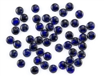 6mm Flat Lentils Czech Glass Beads - Transparent Cobalt Picasso