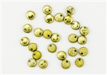 6mm Flat Lentils Czech Glass Beads - Etched Crystal Full Amber/Gold