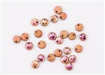 6mm Flat Lentils Czech Glass Beads - Etched Crystal Full Capri Rose/Apollo Gold