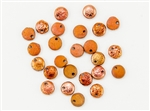 6mm Flat Lentils Czech Glass Beads - Etched Crystal Full Sunset