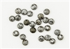 6mm Flat Lentils Czech Glass Beads - Etched Crystal Full Chrome Metallic