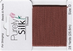 Purely Silk Beading Thread - Size D - Brown