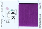 Purely Silk Beading Thread - Size D - Plum