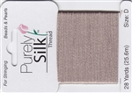 Purely Silk Beading Thread - Size E - Grey