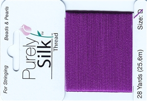 Purely Silk Beading Thread - Size E - Plum