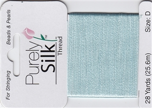 Purely Silk Beading Thread - Size E - Turquoise Pale