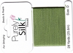 Purely Silk Beading Thread - Size F - Bright Green