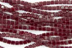 CzechMates 6mm Tiles Czech Glass Beads - Ruby Red Transparent T3
