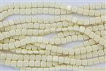 CzechMates 6mm Tiles Czech Glass Beads - Ivory Cream Opaque T41