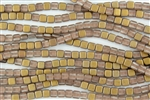 CzechMates 6mm Tiles Czech Glass Beads - Apollo Gold Matte T106