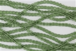 CzechMates 6mm Tiles Czech Glass Beads - Transparent Prairie Green T154