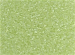 #0 Bugle 2mm Japanese Toho Glass Beads - Dyed Pale Lime Rainbow #173