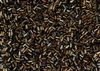 #1 Bugle 3mm Japanese Toho Glass Beads - Olive Brown Iris Metallic #83