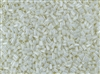 #1 Bugle 3mm Japanese Toho Glass Beads - Light Cream Opaque Luster #122