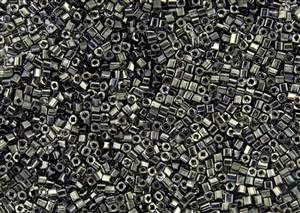 1.5mm Japanese Toho Cube Beads - Hybrid Antiqued Metallic Black #Y503
