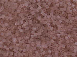 2mm Japanese Toho Cube Beads - Light Pink Transparent Matte #11F