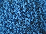 2mm Japanese Toho Cube Beads - Dark Aqua Opaque Matte #43DF
