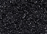 2mm Japanese Toho Cube Beads - Jet Black Opaque #49