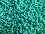 2mm Japanese Toho Cube Beads - Turquoise Opaque Matte #55F