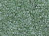 2mm Japanese Toho Cube Beads - Baby Light Green Ceylon Pearl #144
