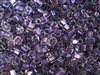2mm Japanese Toho Cube Beads - Purple Lined Crystal Luster #265