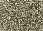 2mm Japanese Toho Cube Beads - Beige Lined Crystal #369