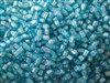 2mm Japanese Toho Cube Beads - White Lined Aqua #930
