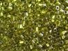 2mm Japanese Toho Cube Beads - Bronze Lined Peridot #991