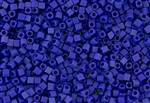 3mm Japanese Toho Cube Beads - Royal Blue Opaque Matte #48F