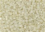 3mm Japanese Toho Cube Beads - Light Cream Opaque Luster #122