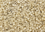 3mm Japanese Toho Cube Beads - Cream Opaque Luster #123