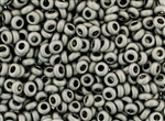 6/0 Demi Round Toho Japanese Seed Beads - Antique Silver Metallic Matte #566