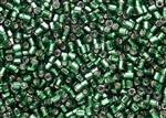 8/0 HEX Japanese Toho Seed Beads - Green Emerald Silver Lined #36