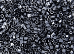 8/0 HEX Japanese Toho Seed Beads - Hematite Metallic #81