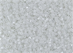 8/0 HEX Japanese Toho Seed Beads - White Opaque Luster #121
