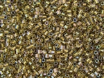 8/0 HEX Japanese Toho Seed Beads - Lt Bronze Lined Crystal Rainbow #262