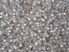 8/0 HEX Japanese Toho Seed Beads - Crystal Silver Lined Rainbow #2021
