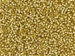 11/0 Takumi Toho Japanese Seed Beads - Light Topaz Silver Lined Matte #22F