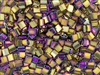 Miyuki Tila 5mm Glass Beads - Purple Gold Iris Metallic #TL188