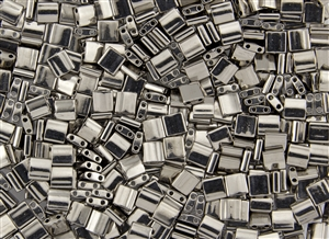 Miyuki Tila 5mm Glass Beads - Nickel Plated Metallic #TL190