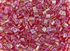 Miyuki Tila 5mm Glass Beads - Transparent Red AB #TL254